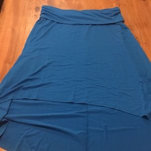 Mossimo Supply Co. Skirts - Mossimo blue fold over high-low skirt